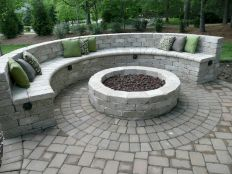 Round firepit design for outdoor living and gathering space ideas Part 6