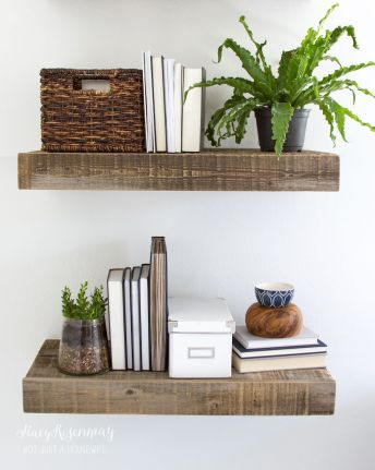 Simple bathroom shelves made from wood pallets Part 22