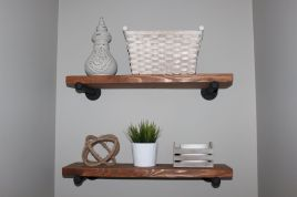 Simple bathroom shelves made from wood pallets Part 30