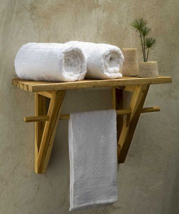 Simple bathroom shelves made from wood pallets Part 35