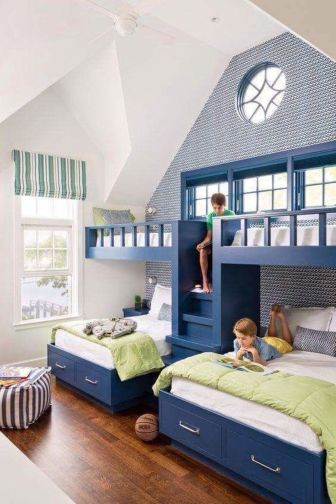 Wooden Storage Bunk Bed Frame Designs That Effective to give ashared space some efficient organizations Part 25