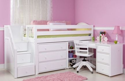 Wooden Storage Bunk Bed Frame Designs That Effective to give ashared space some efficient organizations Part 7