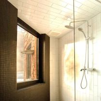 Intelligible and straigtfoward bathroom in Mezzaine drolet by la Firme in La Petite Patrie duplex