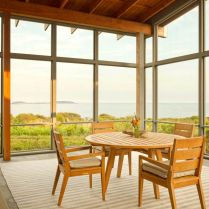 Seafront house Spurwink Retreat showing off old farm design with perfect natually layouted landscape completed in 2014 by Wright Ryan Homes (4)