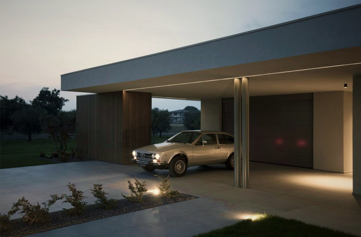 Brilliant exterior displaying beautiful mix of material that give the home a modern character (2)
