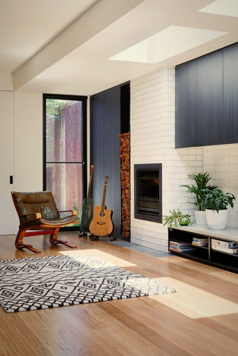 Open interior style increasing more sense of space Brunswick Rd House (1)