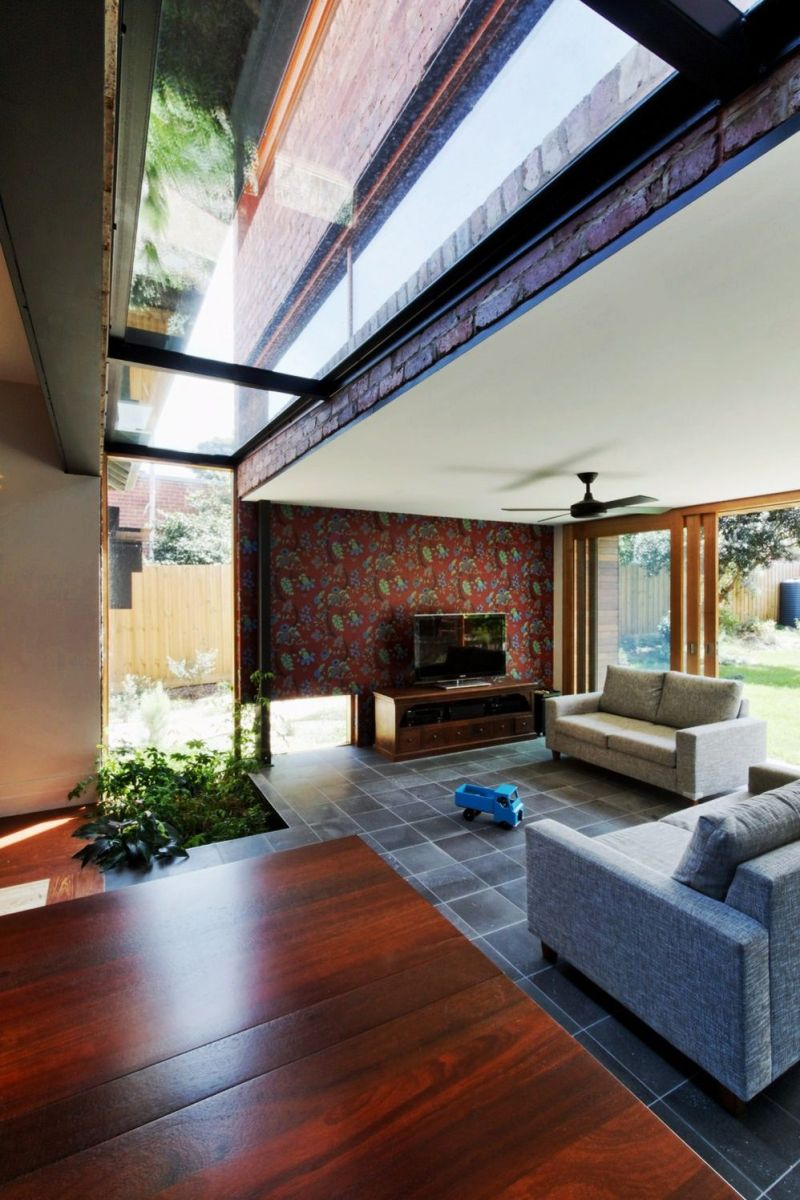 Heterogenous interior concept that adapts wooden surface in a colorful interior style to give charming vibe in the house (1)