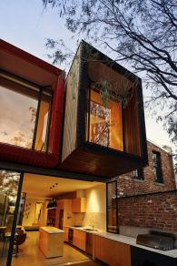 Modern urban house style with cantilever structure for useful backyard terrace Moor House (7)