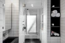 Black and White home attic concept to improve visual space volume by MKCA (2)