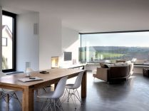 Contemporary interior model amplified by large windows for more natural light penetration (3)
