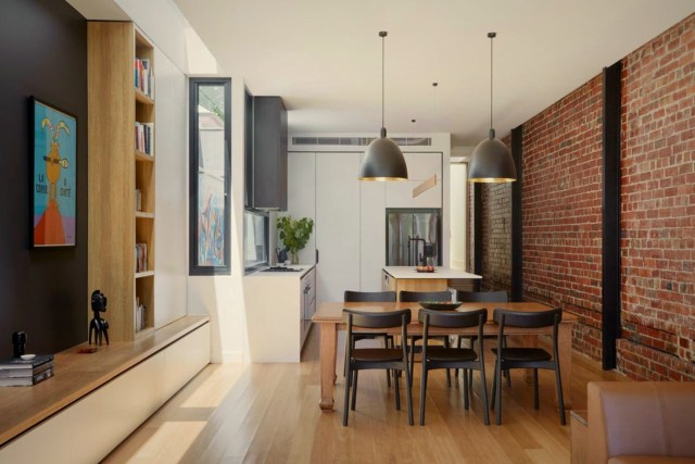 Modern industrial house style displaying best combination of exposed brick walls and seamless surface in Port Melbourne (4)