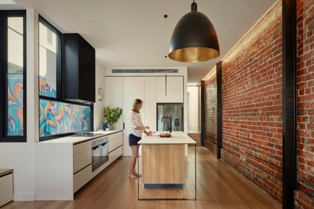 Modern industrial house style displaying best combination of exposed brick walls and seamless surface in Port Melbourne (6)