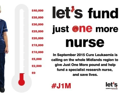 Help Cure Leukaemia Fund Just One More Specialist Research Nurse this September