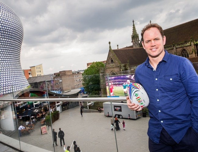England Legend Drops In At Rugby World Cup Screen