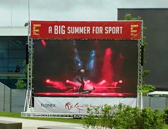 Elonex Giant Screen Kicks Off Big Summer of Sport at Resorts World Birmingham