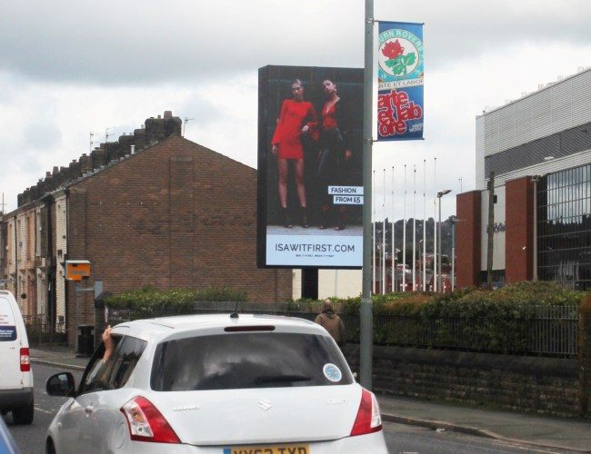 New Digital Billboard Goes Live at Blackburn Rovers