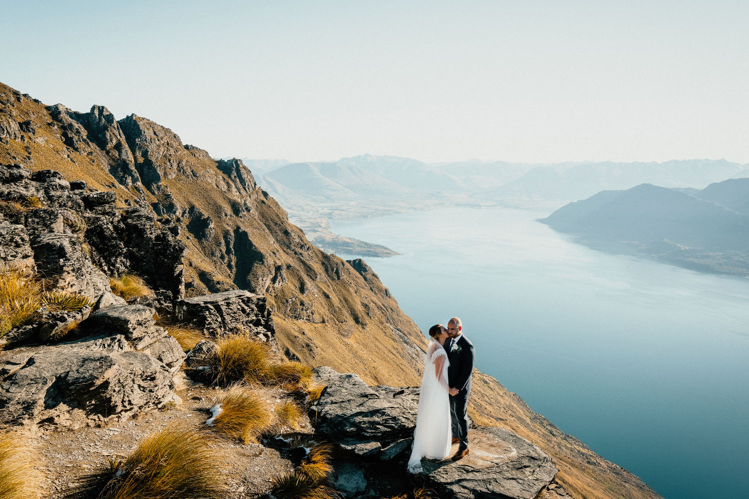 Cecil Peak heli wedding