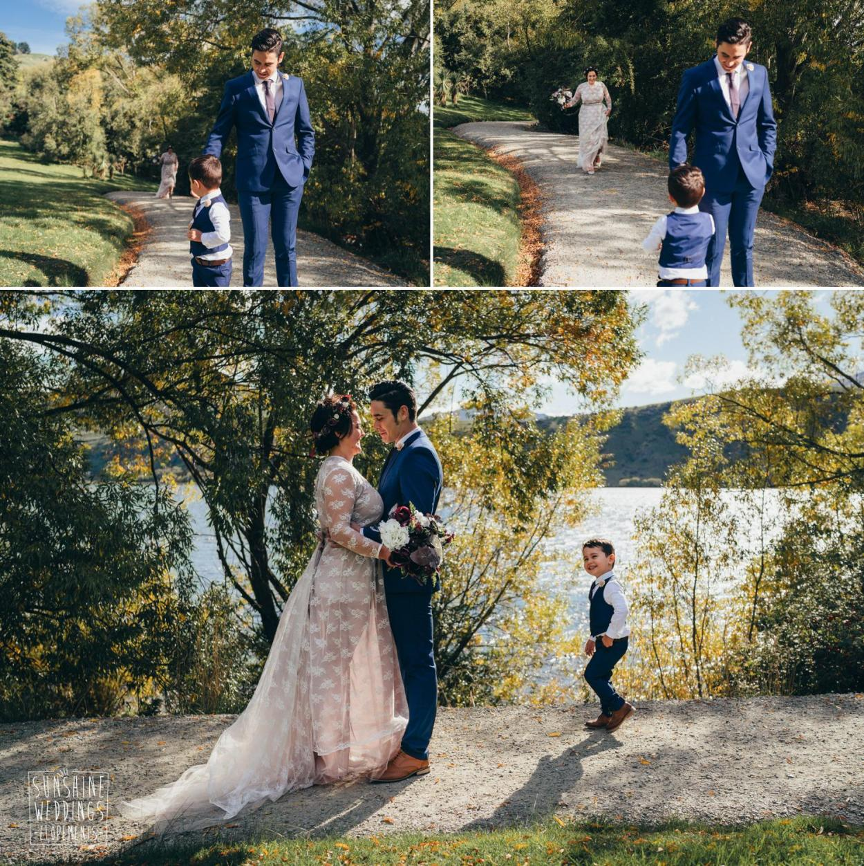 Queenstown first look wedding