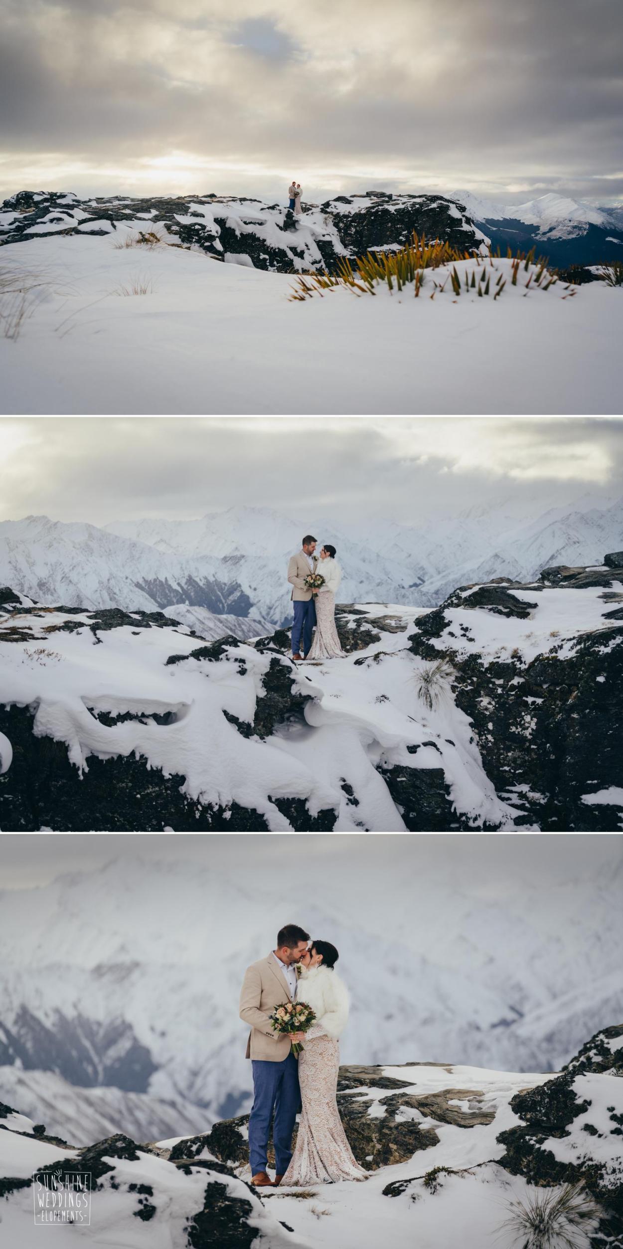 Cecil Peak winter elopement