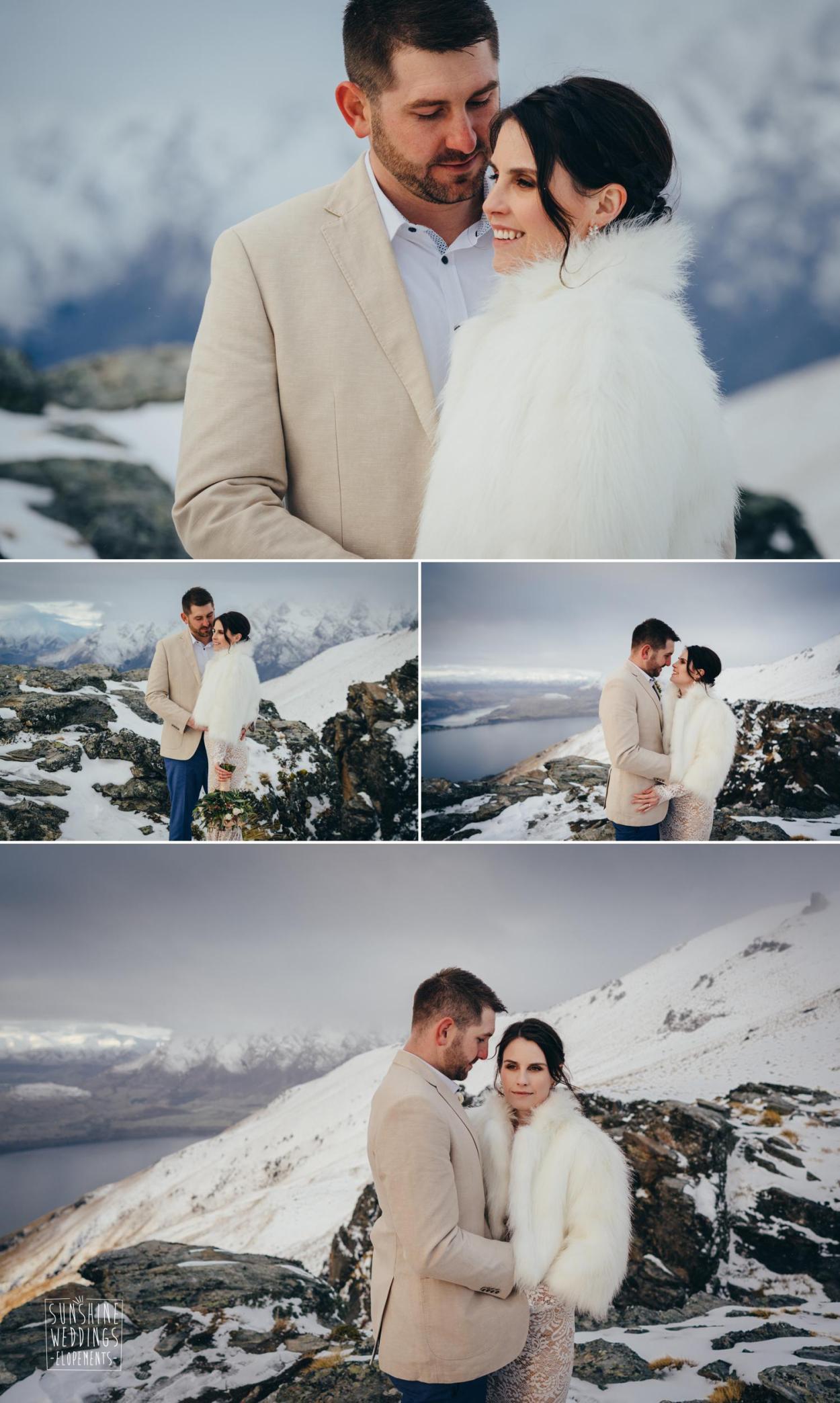 Snow wedding Queenstown