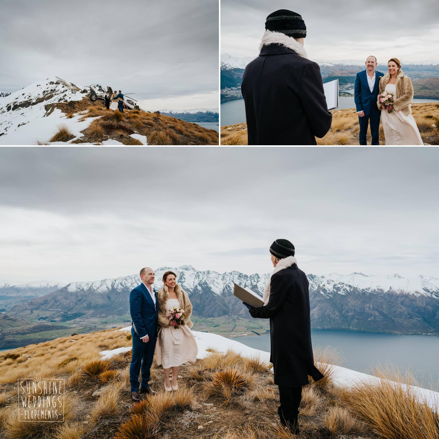 Queenstown mountain wedding ceremony