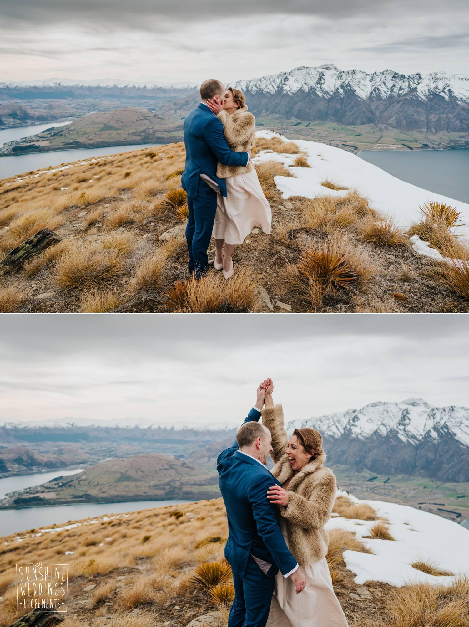 Mountain wedding New Zealand