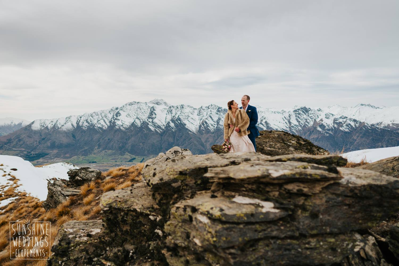 Elopement mountain wedding