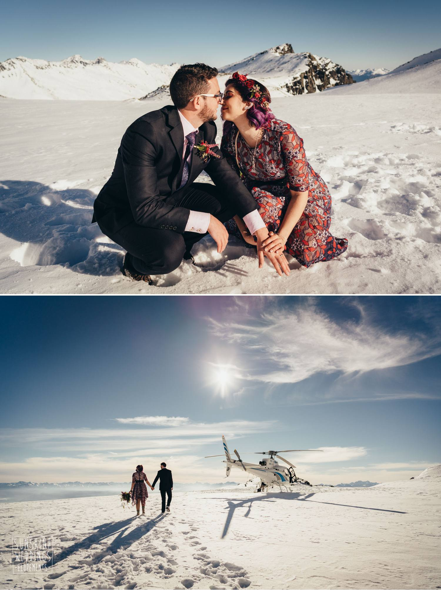 heli wedding New Zealand