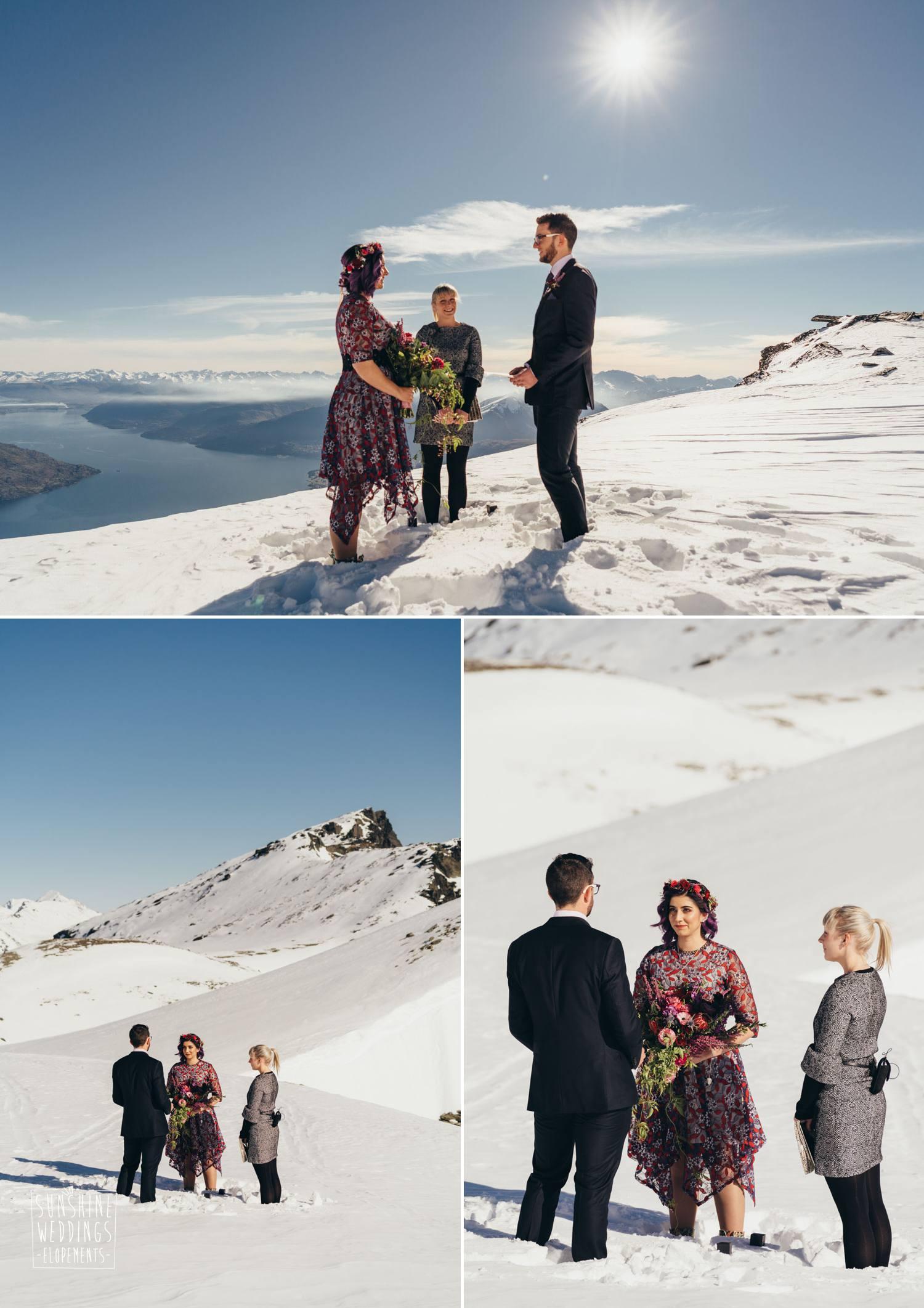 New Zealand winter elopement