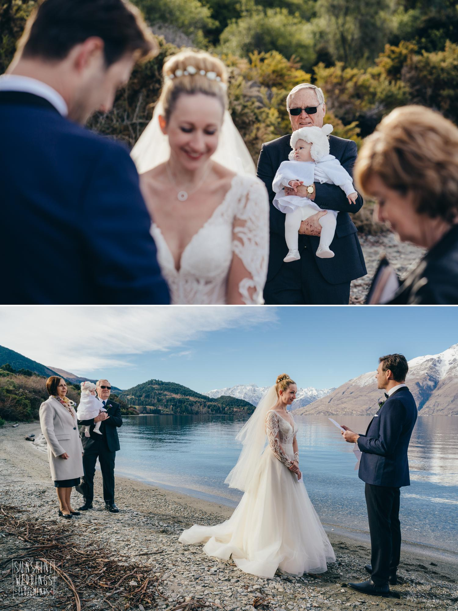 Lakeside wedding Queenstown