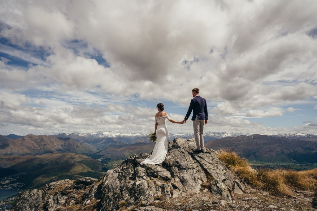 The Remarkables wedding pacakges - elopement wedding on The Remarkables mountains