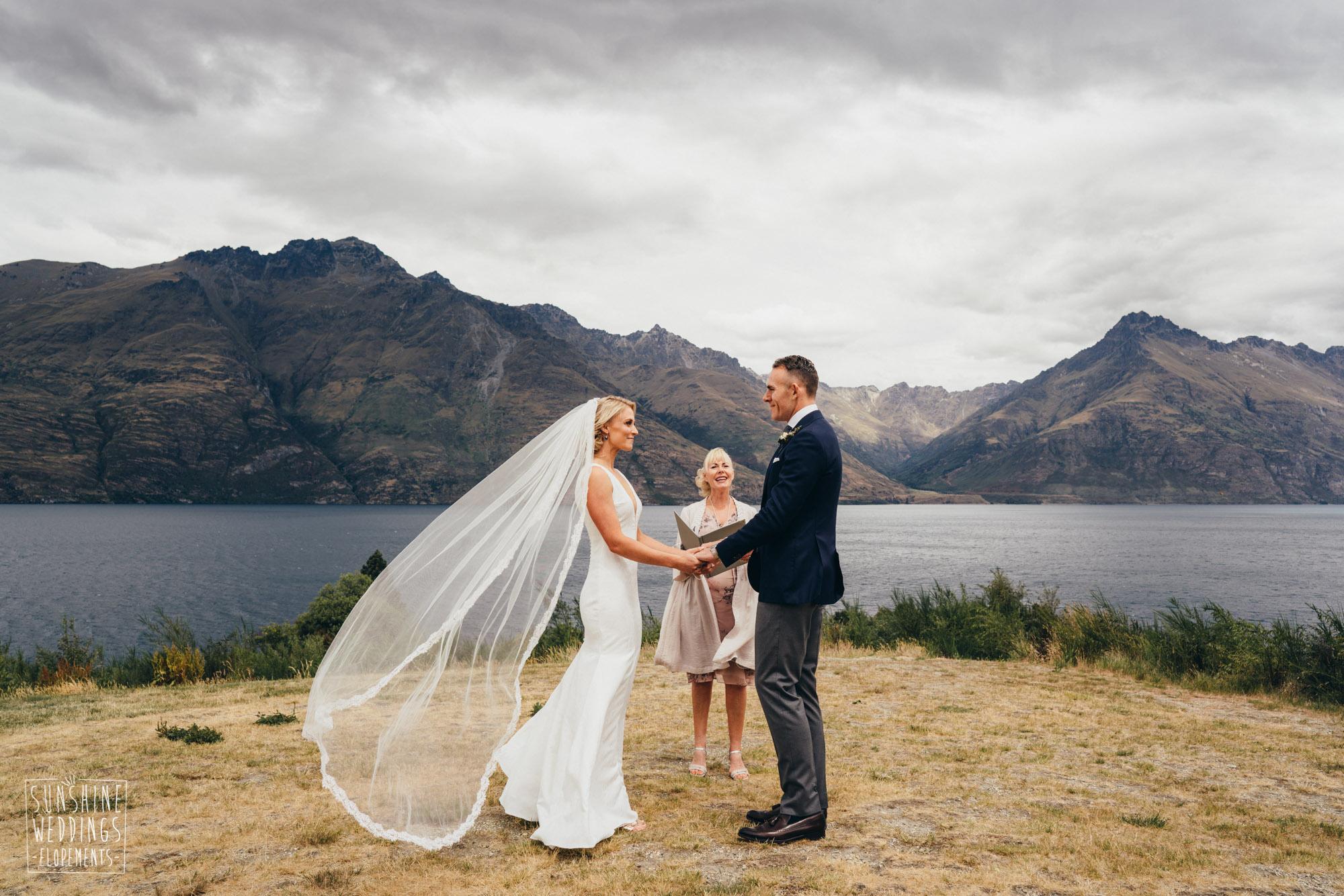 Lake Wakatipu wedding ceremony