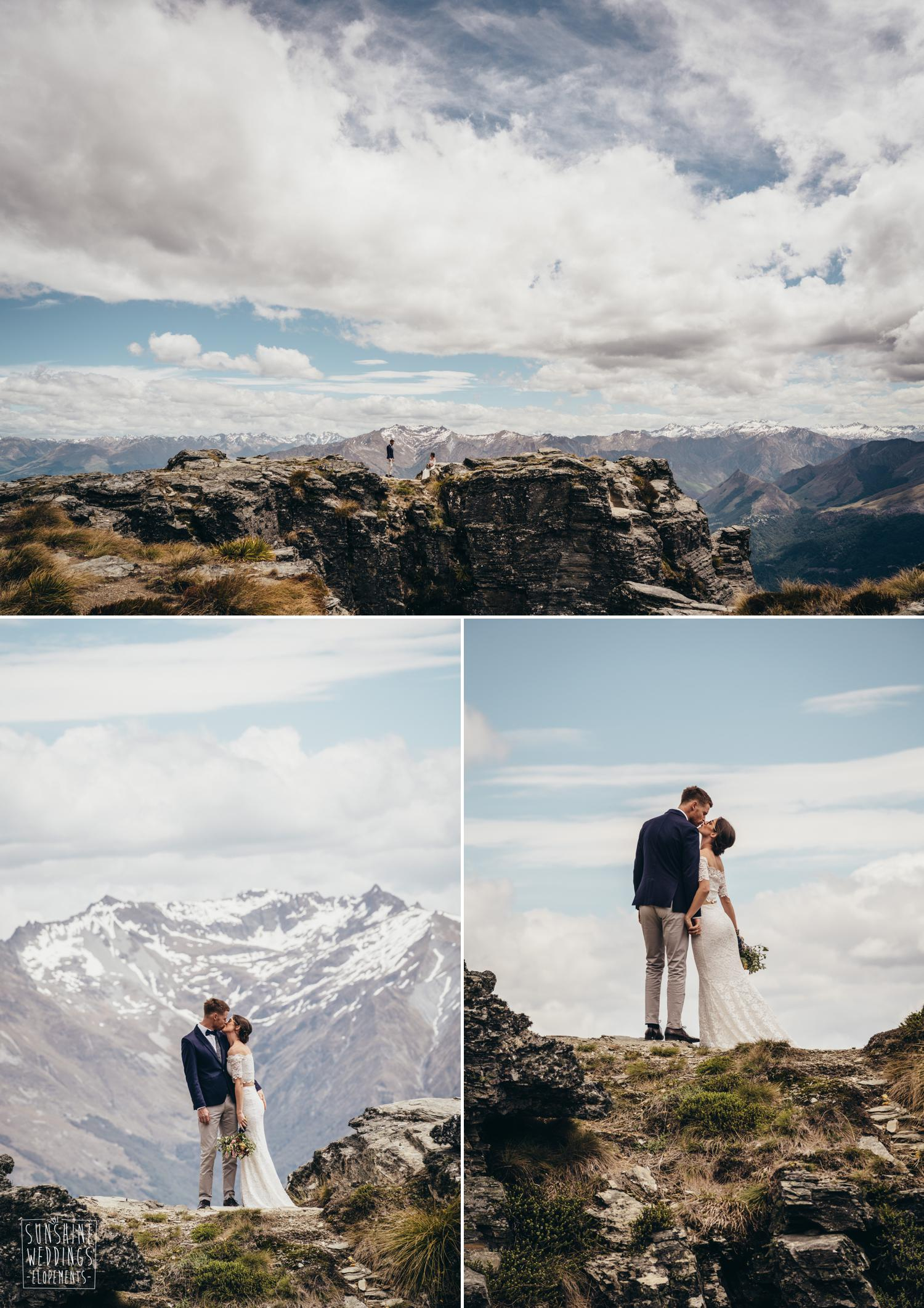 The Ledge destination mountain wedding NZ