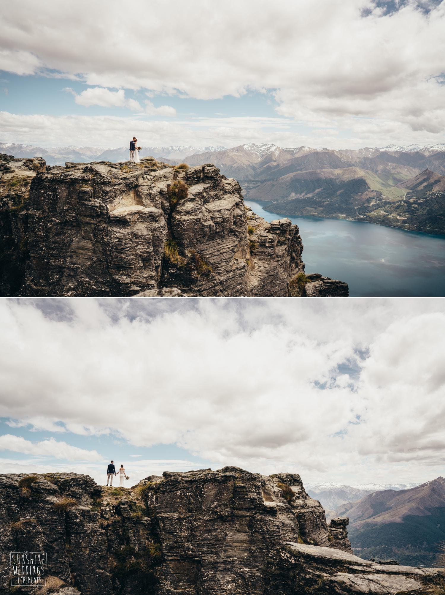 NZ mountain wedding photography