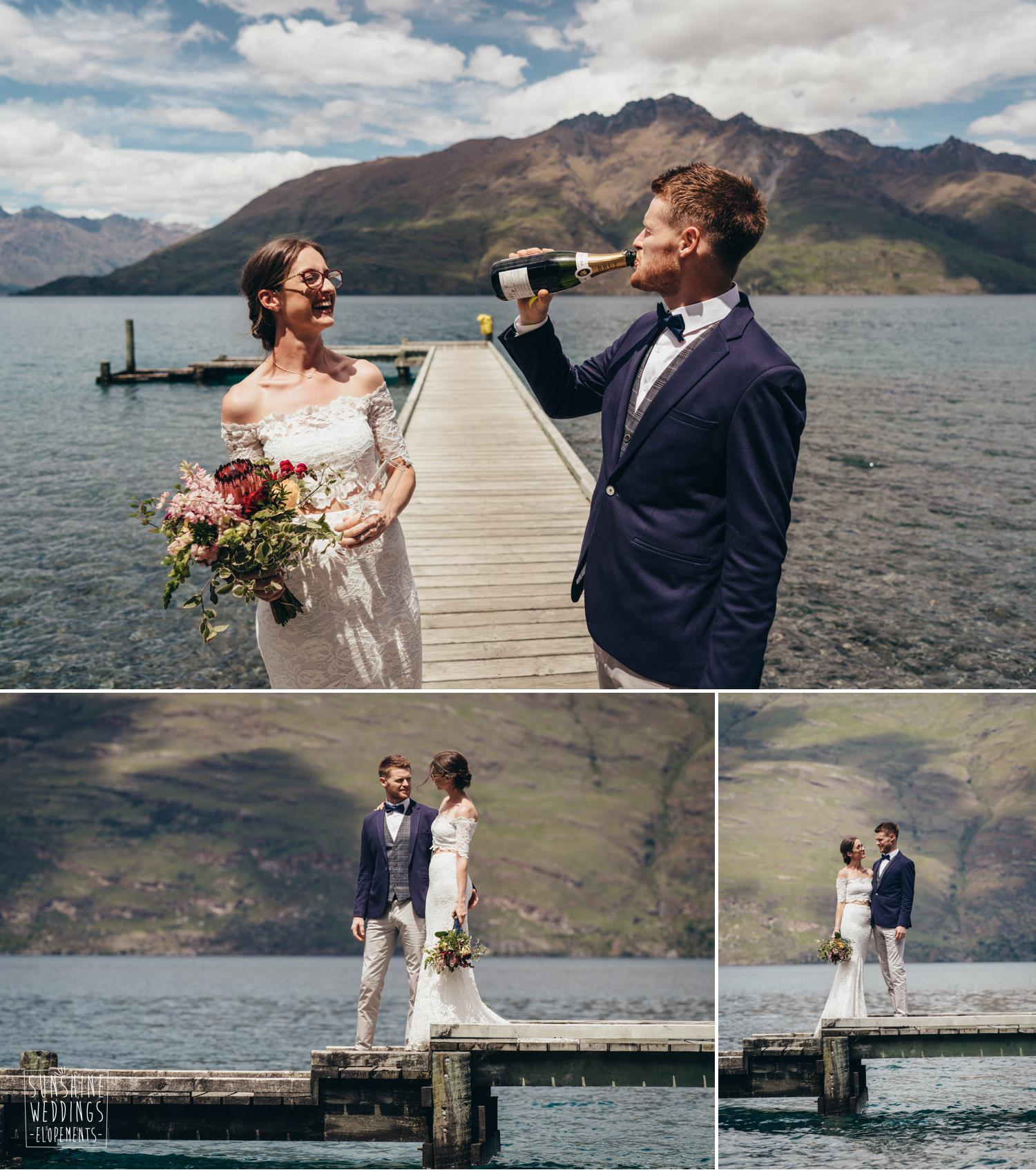 Queenstown elopement couple