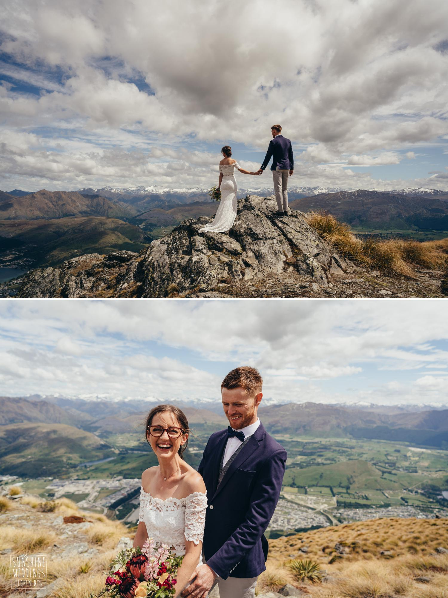 NZ mountain wedding The Remarkables