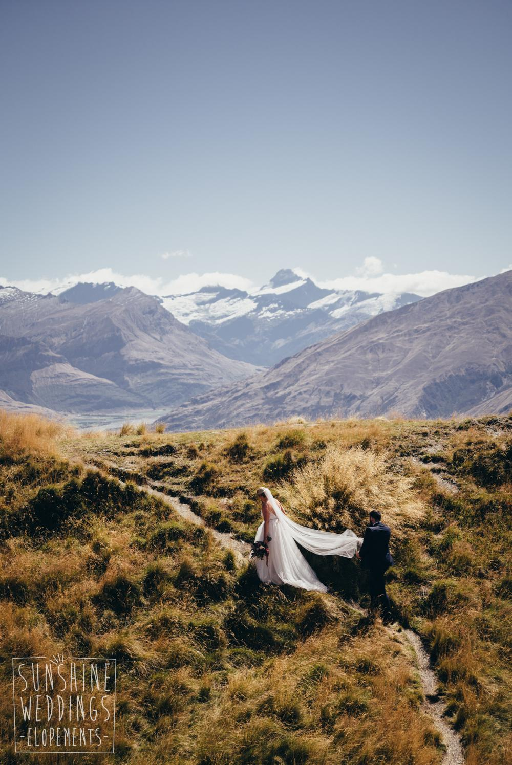 Bride on Mt Roy Wanaka
