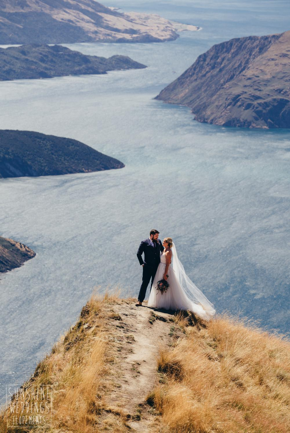 Wedding photography Mount Roy Coromandel Peak