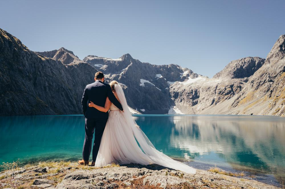 Best mountain wedding photographer Lake Erskine