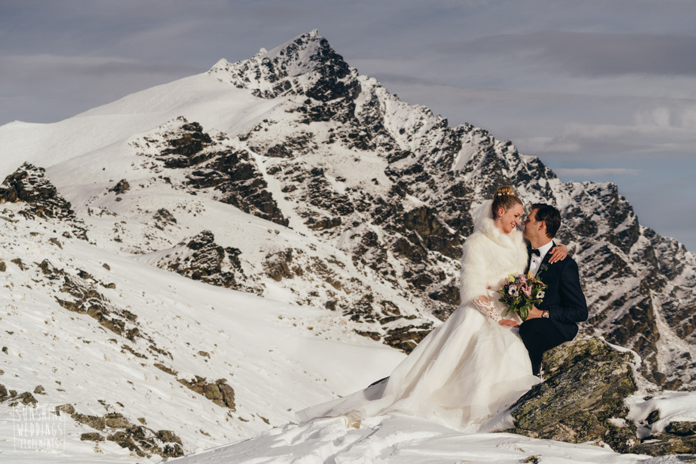 Remarkables winter wedding