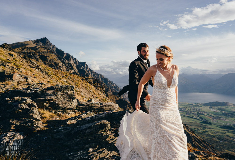 Elopement wedding on the Remarkables Queenstown