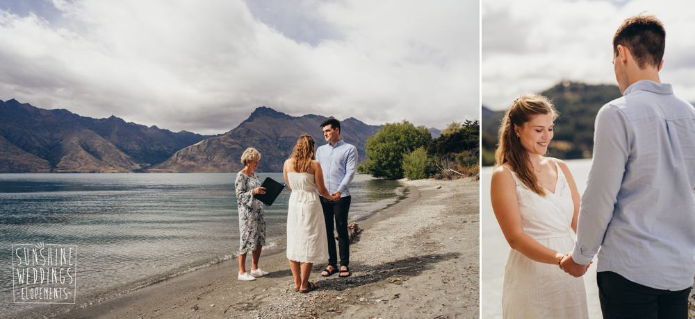 Queenstown elopement by the lake