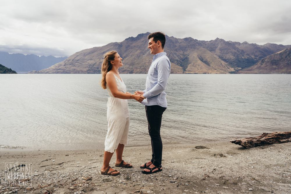 elope to Queenstown lake ceremony