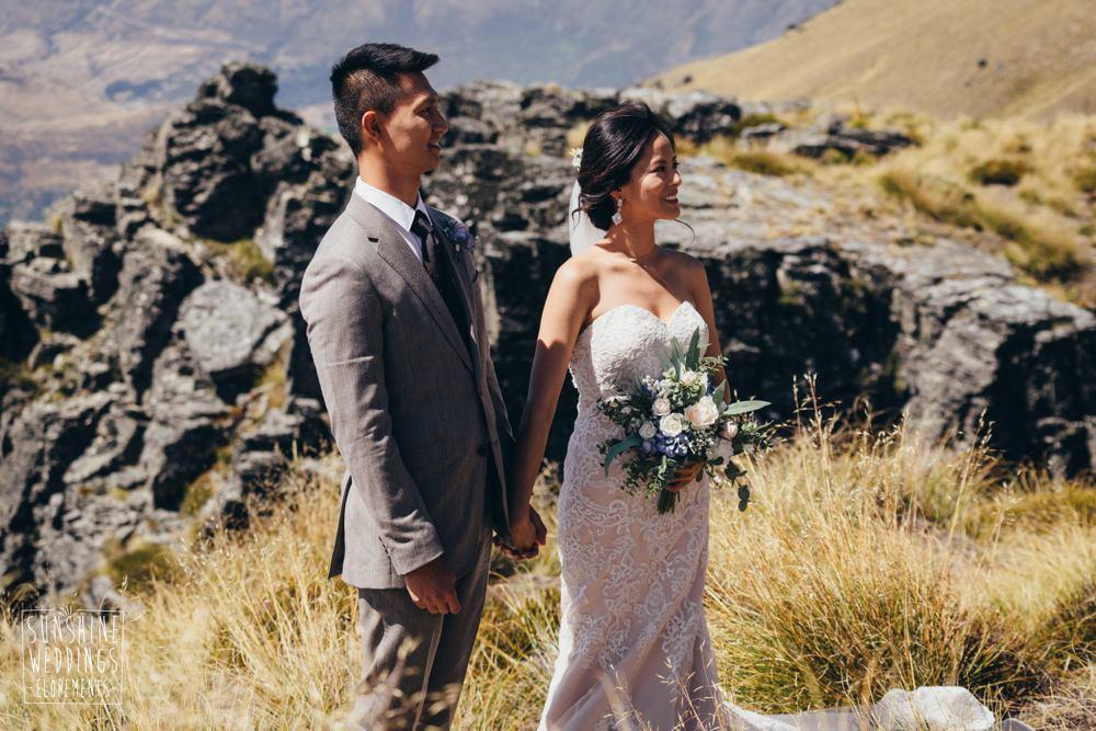 mountain wedding ceremony in NZ