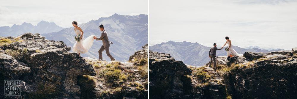 mountaintop elopement in NZ