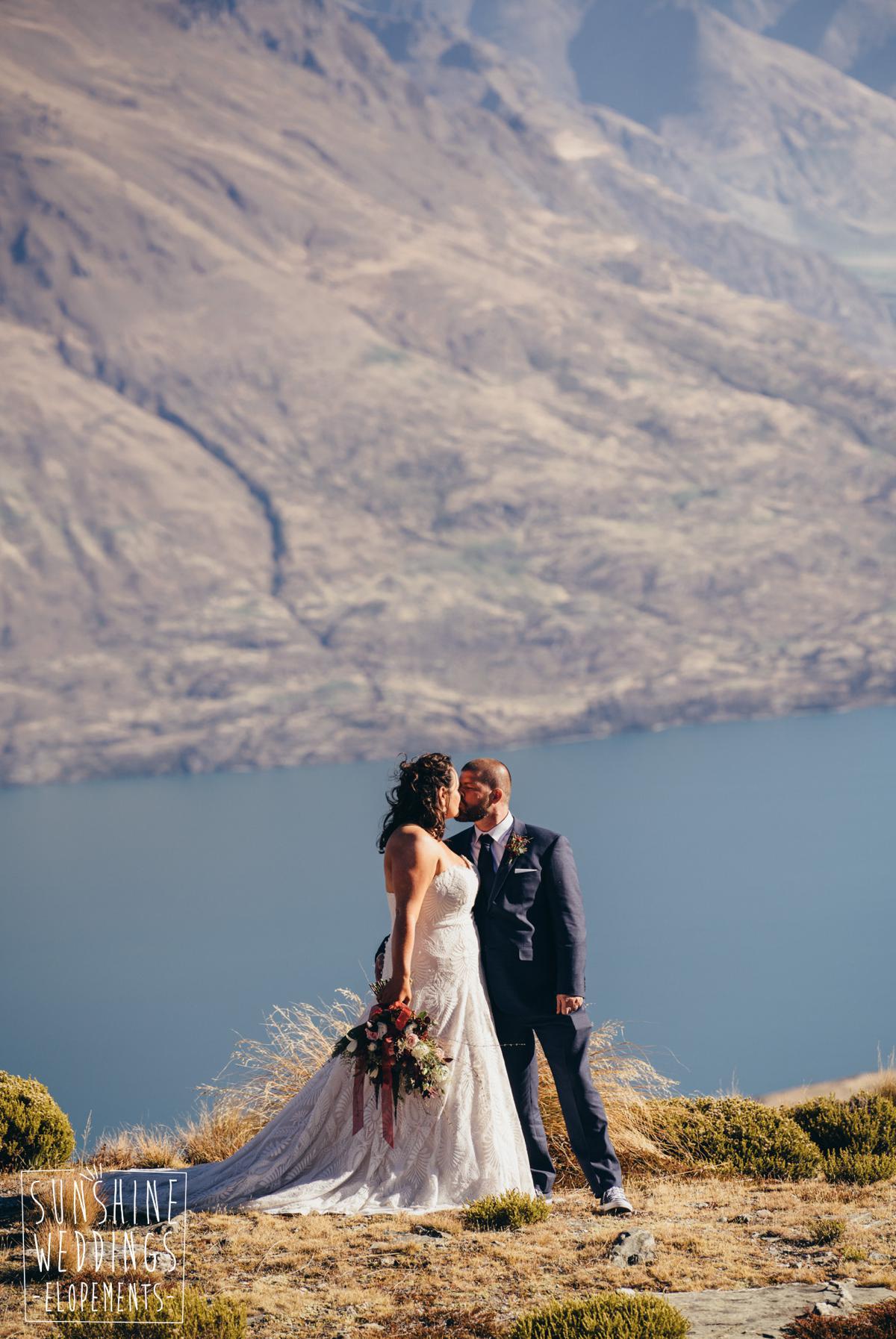New Zealand mountain wedding photography