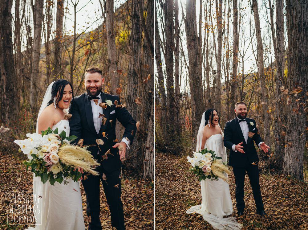 Autumn elopement in arrowtown