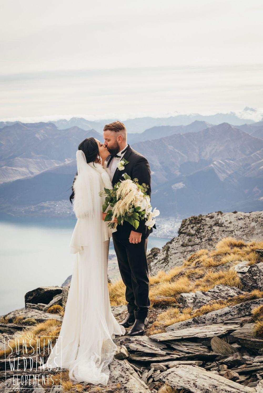 New Zealand mountain elopement