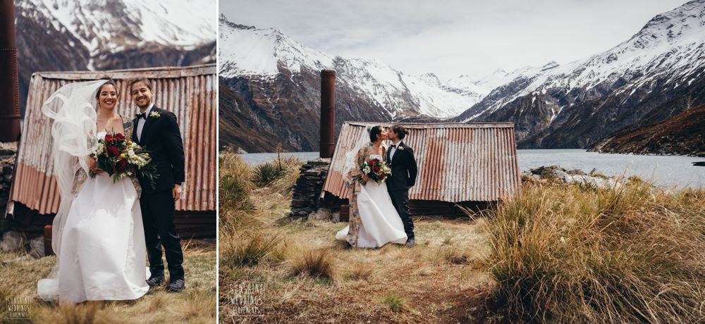 Queenstown mountain lake wedding