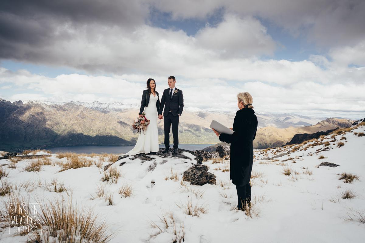 simple mountain wedding